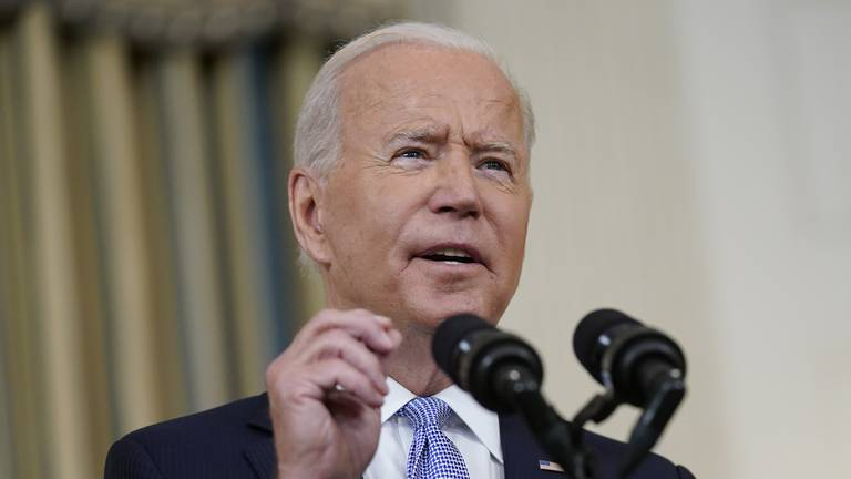 An image that illustrates this article Biden to receive Covid booster shot on Monday