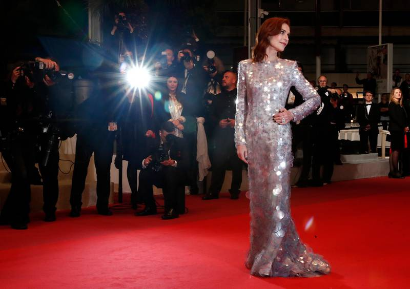epa07587878 French actress Isabelle Huppert arrives for the screening of 'Frankie' during the 72nd annual Cannes Film Festival, in Cannes, France, 20 May 2019. The movie is presented in the Official Competition of the festival which runs from 14 to 25 May.  EPA-EFE/IAN LANGSDON