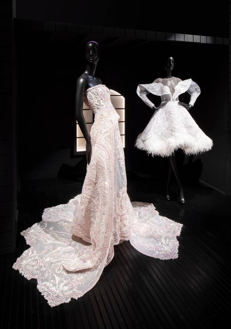 """SCAD Savannah – Fall 2019 – Exhibitions –Michael Cinco – """"Impalpable Couture"""" –Teaser Documentation – SCAD Museum of Art –Photography Courtesy of SCAD"""