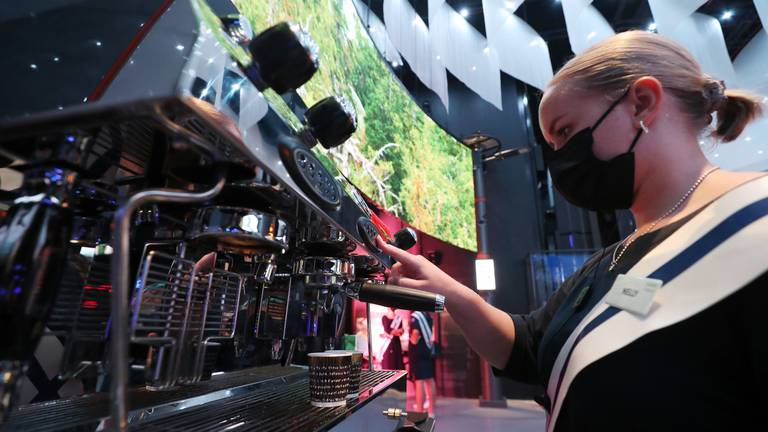 An image that illustrates this article Finland serves coffee in machine powered by the air we breathe at Expo 2020 Dubai