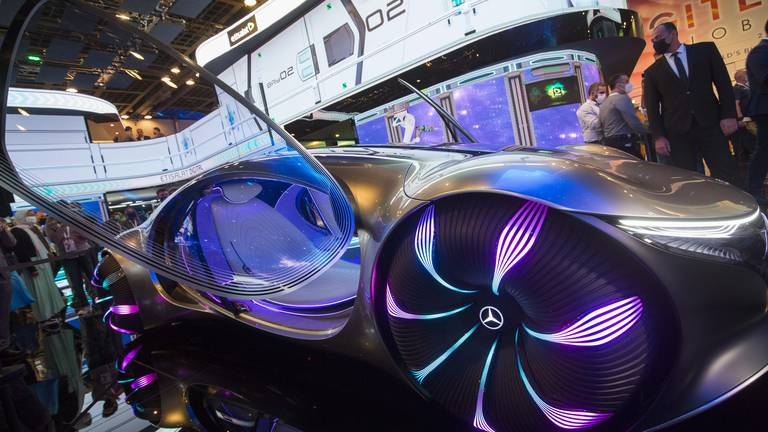 An image that illustrates this article Gitex 2021: Mind-controlled car inspired by hit movie Avatar draws crowds in Dubai
