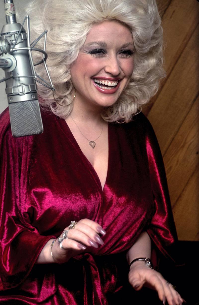 Dolly Parton at recording session 1978 © 1978 Ed Thrasher