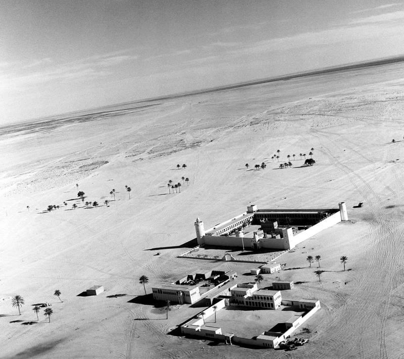 Historic photo of the Qasr Al Hosn  fort in Abu Dhabi, UAE from the Ronald Codrai collection.  credit: Ronald Codrai © TCA Abu Dhabi