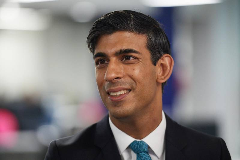 Britain's Chancellor of the Exchequer Rishi Sunak visits the headquarters of Octopus Energy, in London, Britain October 5, 2020. Leon Neal/Pool via REUTERS