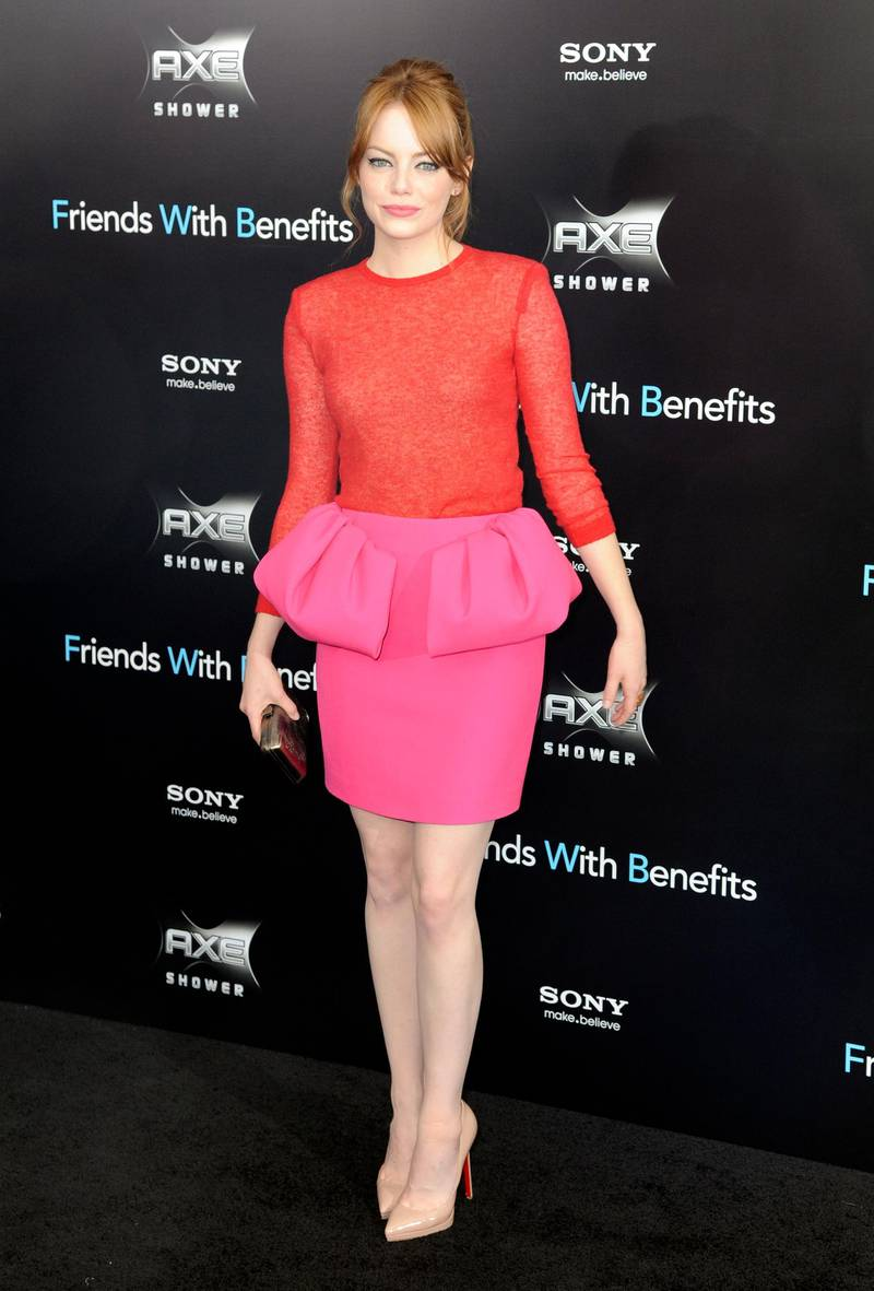 epa02830965 US actress Emma Stone arrives at the 'Friends with Benefits' premiere at the Ziegfeld Theater in New York, New York, USA 18 July 2011. The movie, opens on 22 July in the United States  EPA/ANDREW GOMBERT