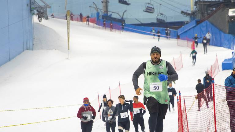 An image that illustrates this article DXB Snow Run is returning to Ski Dubai for a second year