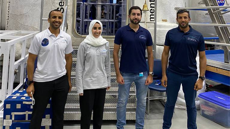 An image that illustrates this article UAE's four astronauts join up at Nasa training centre in Houston