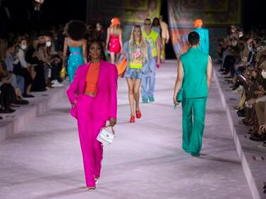 Versace's spring/summer 2022 show at Milan Fashion Week - in pictures