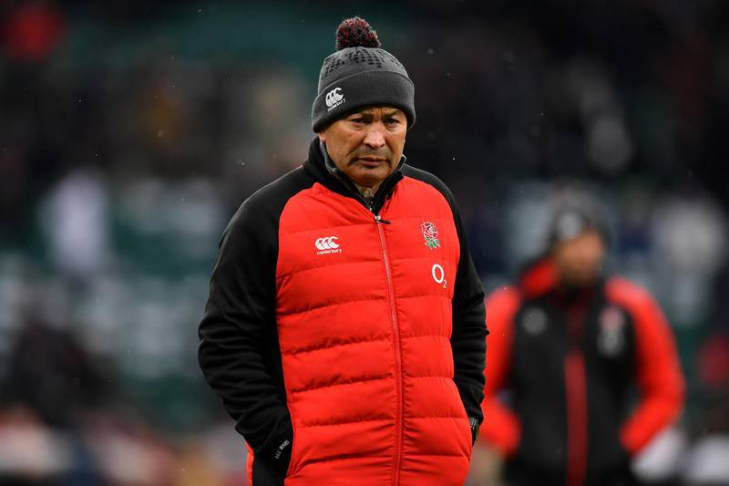 LONDON, ENGLAND - MARCH 17:  Eddie Jones, Head coach of England looks on prior to the NatWest Six Nations match between England and Ireland at Twickenham Stadium on March 17, 2018 in London, England.  (Photo by Dan Mullan/Getty Images)