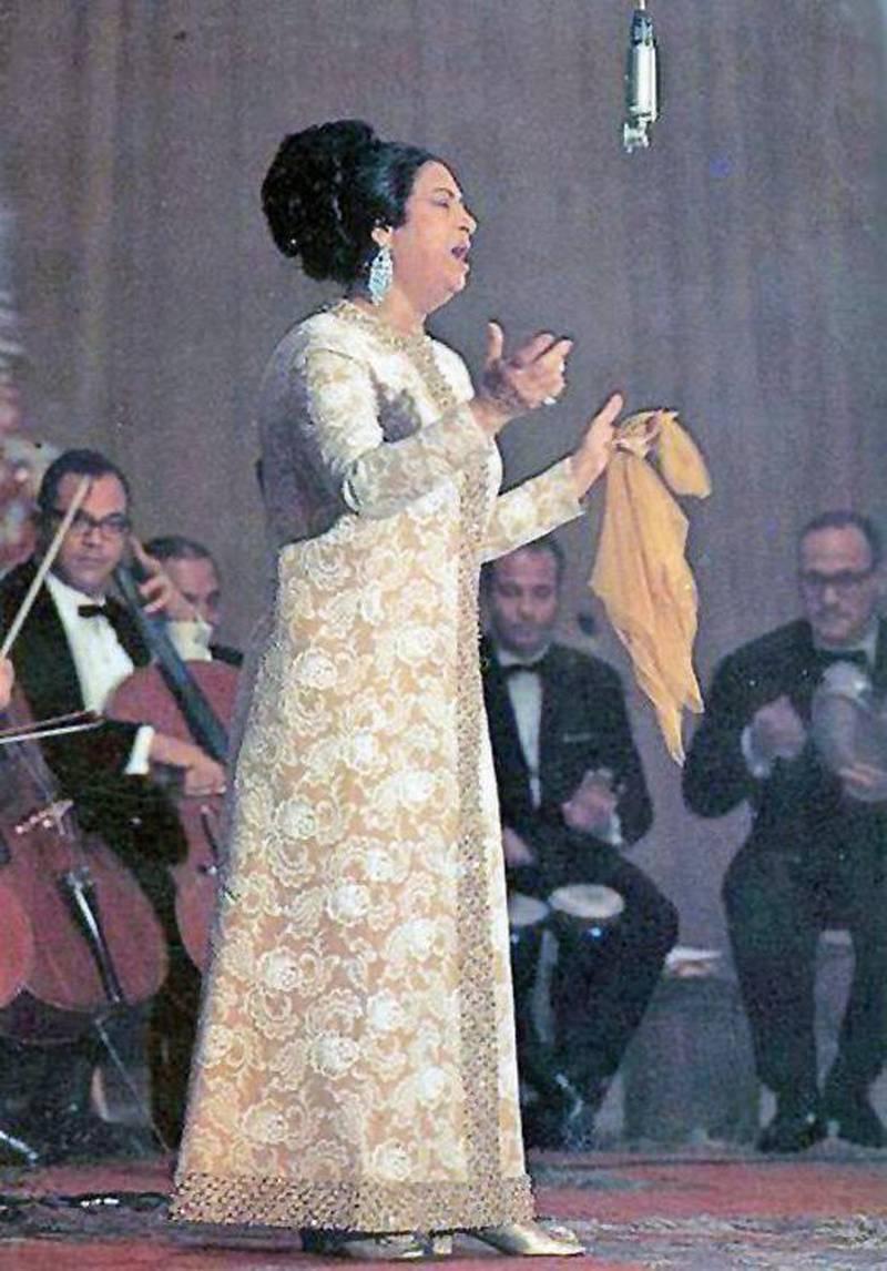 Umm Kulthum, Egyptian singer and performer.  Courtesy of Al Ittihad *** Local Caption ***  1325086383674134900.jpg