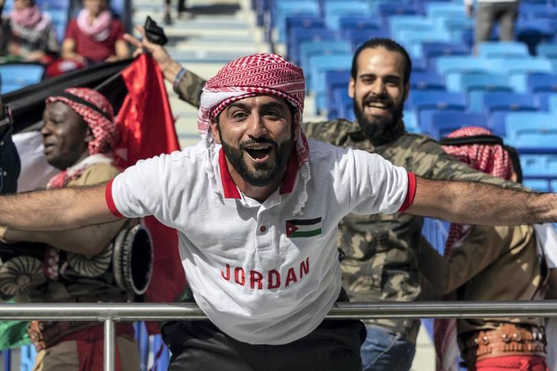 DUBAI, UNITED ARAB EMIRATES. 20 JANUARY 2019. AFC Football at Al Maktoum Stadium. Jordon vs Vietnam. (Photo: Antonie Robertson/The National) Journalist: John McAuley. Section: Sport.