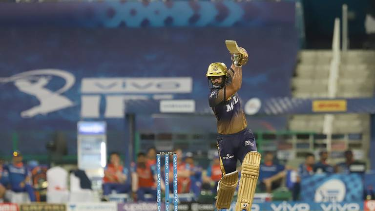 An image that illustrates this article Iyer and Thripathi guide Kolkata to convincing IPL win over Mumbai