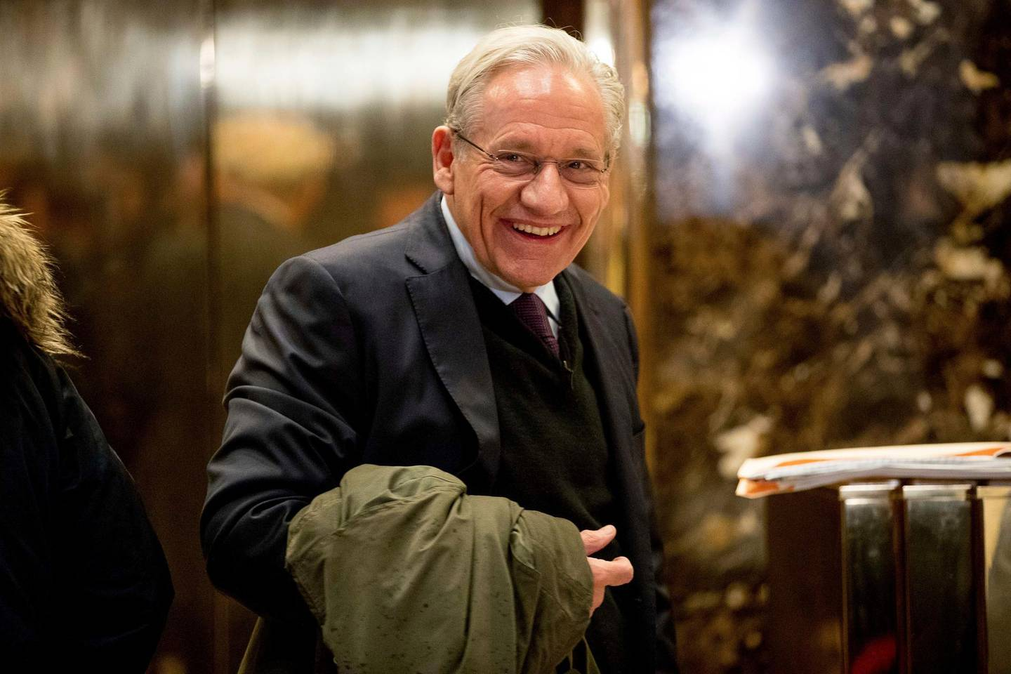 FILE - In this Jan. 3, 2017, file photo The Washington Post associate editor Bob Woodward arrives at Trump Tower in New York. Woodward, facing widespread criticism for only now revealing President Donald Trump's early concerns about the severity of the coronavirus, told The Associated Press that he needed time to be sure that Trump's private comments from February were accurate. (AP Photo/Andrew Harnik, File)
