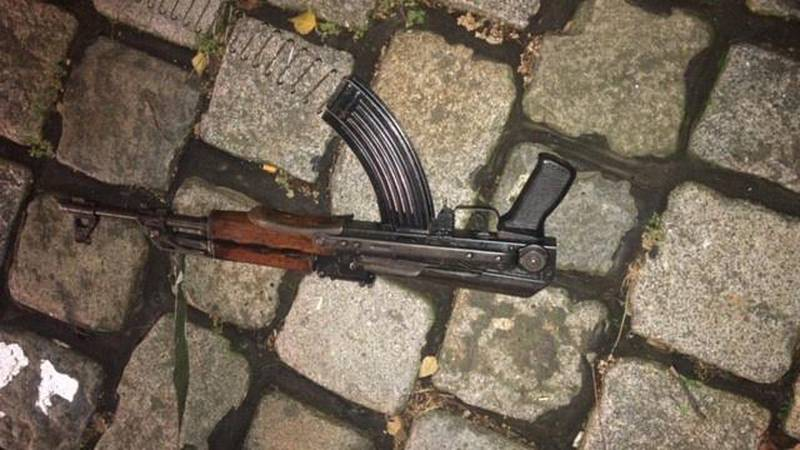 Undated handout photo of a gun used during the November 2, 2020 attack in Vienna, Austria. Vienna Police/Handout via REUTERS  ATTENTION EDITORS - THIS IMAGE HAS BEEN SUPPLIED BY A THIRD PARTY