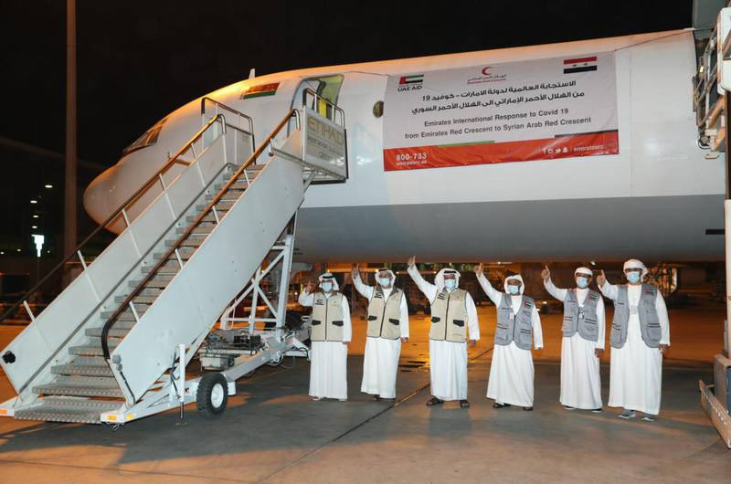 Damascus received the second batch of medical aid sent by the UAE to help reduce the spread of the COVID-19 pandemic and support the Syrian medical sector in coordination with the Syrian Arab Red Crescent on September 4, 2020. Wam