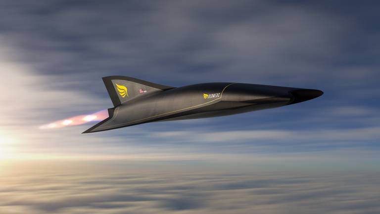 An image that illustrates this article London to New York in 90 minutes? A Mach 5 passenger plane might just be able to do that