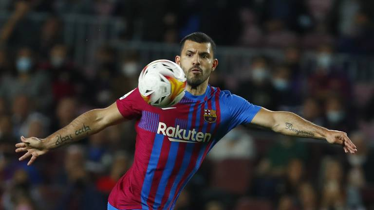 An image that illustrates this article Aguero and Fati give hope to beleaguered Barca