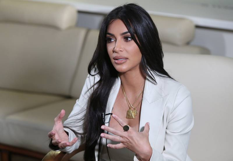 Reality TV personality Kim Kardashian speaks during an interview with Reuters at the World Congress on Information Technology (WCIT) in Yerevan, Armenia, October 8, 2019. Vahram Baghdasaryan/Photolure via REUTERS  ATTENTION EDITORS - THIS IMAGE WAS PROVIDED BY A THIRD PARTY.