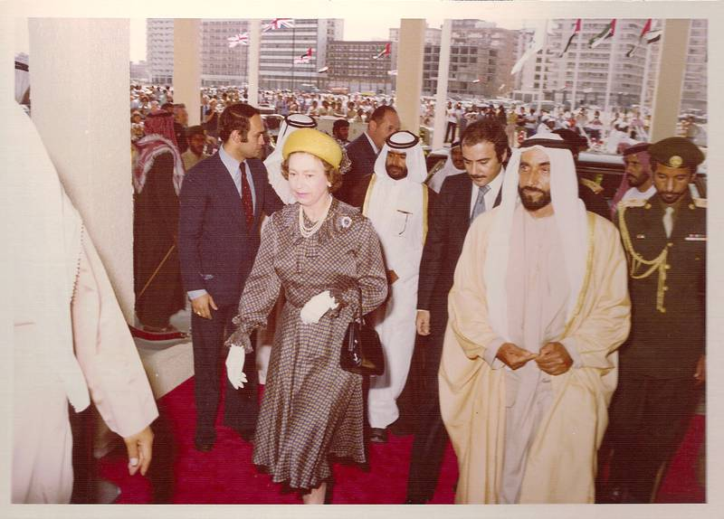 Provided photo of Le Méridien Abu Dhabi hotel inauguration with Her Majesty Queen Elizabeth II of the United Kingdom and His Highness Sheikh Zayed Bin Sultan Al Nahyan, the late president of the UAE in 1979 These photos will be displayed during the photo gallery exhibition from 23rd to 27th in the lobby of the hotelCourtesy Le Méridien Abu Dhabi For story in the national section by Mel Swan