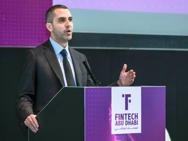 Abu Dhabi, United Arab Emirates, October 21, 2019.   STORY BRIEF: Investor Forum Fintech Abu Dhabi SUBJECT NAME: Investor Forum Fintech Abu Dhabi --  Ibrahim Ajami, Head of Ventures, Mubadala.Victor Besa/The NationalSection:  BZReporter:  Fareed Rahman