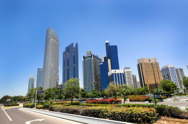 Abu Dhabi, United Arab Emirates, May 15, 2019.  Abu Dhabi stock images:  Buildings along Corniche.-Victor Besa/The NationalSection:  BZReporter: