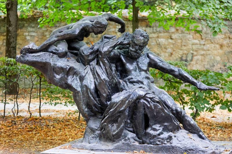 2AHXRGE Monument a Victor Hugo dit du Palais Royal, apres 1900, sculpture by Auguste Rodin (1840-1917), Musee Rodin Museum, Paris, France. Alamy