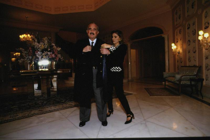 PRINCE MOHAMMED OF JORDAN AND PRINCESS TAGHRID in 1993 (Photo by Maher Attar/Sygma via Getty Images)
