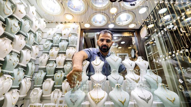 An image that illustrates this article Jewellery on display in Tehran's Grand Bazaar - in pictures
