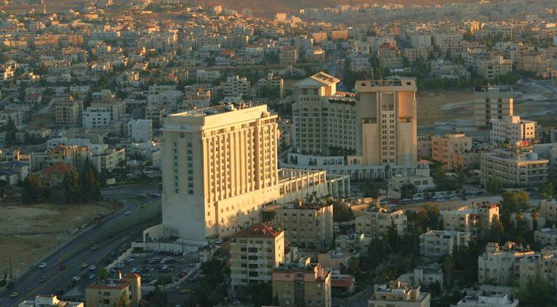 A handout photo of Four Seasons Hotel Amman in Jordan (Courtesy: Four Seasons Hotel Amman) *** Local Caption ***  wk22ja-tr-briefs-amman.jpeg