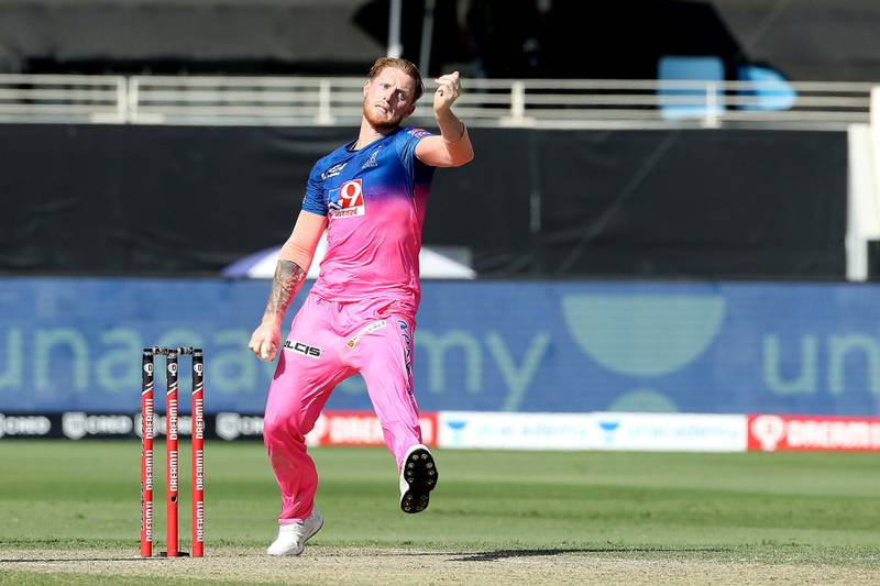 Ben Stokes of Rajasthan Royals during match 26 of season 13 of the Dream 11 Indian Premier League (IPL) between the Sunrisers Hyderabad and the Rajasthan Royals held at the Dubai International Cricket Stadium, Dubai in the United Arab Emirates on the 11th October 2020.  Photo by: Ron Gaunt  / Sportzpics for BCCI