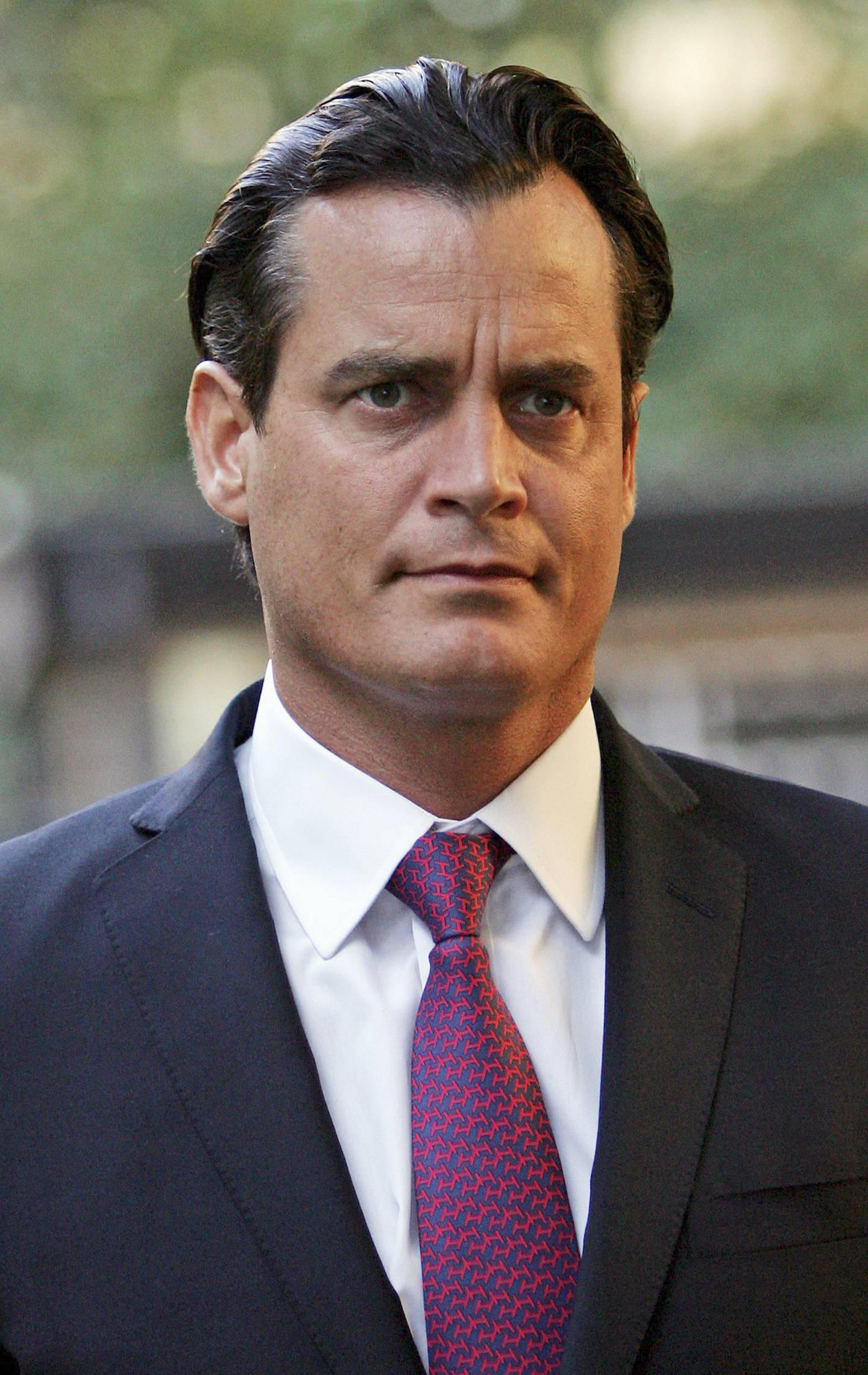 FILE - US Billionaire Matthew Mellon Dies Aged 54 LONDON - OCTOBER 20:  US businessman Matthew Mellon arrives at Southwark Crown Court on October 20, 2006 in London, England. Mellon, the estranged husband of Jimmy Choo creative director Tamara, has been charged in connection with an investigation into an alleged phone-tapping and computer hacking gang. He  faces a single charge of conspiring to cause unauthorised modification of computer material.  (Photo by Scott Barbour/Getty Images)