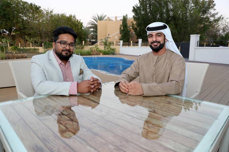 DUBAI, UNITED ARAB EMIRATES , Jan 30  – 2020 :- Abdulaziz Alblooshi , Chief Operation Officer and Harsh Hirani , CEO of WhizKey Intelligent Solutions at Dubai Knowledge Village in Dubai. ( Pawan  Singh / The National ) For Business. Story by Sarmad