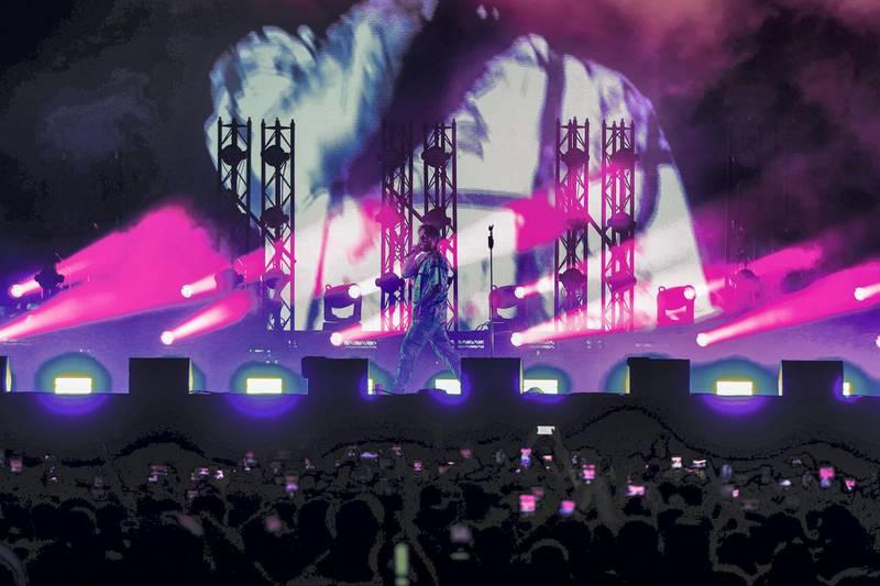 Abu Dhabi, U.A.E., November 22, 2018.  Post Malone at the DU Arena.Victor Besa / The NationalSection:  NAReporter:  Saeed Saeed