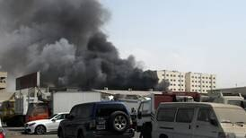 Firefighters tackle blaze in Sharjah industrial area