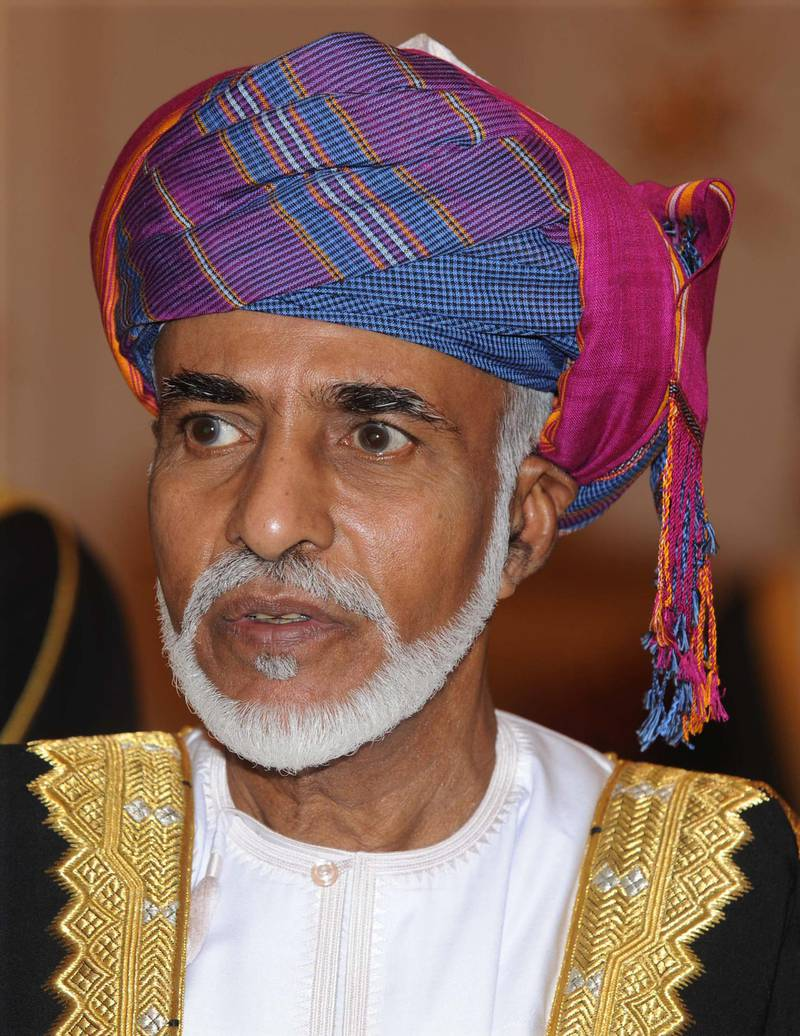 NO UK SALES UNTIL 24 DEC 2010Mandatory Credit: Photo by Shutterstock (1253300n)The Sultan Qaboos bin Said al Said.Queen Elizabeth II visit to Oman - 26 Nov 2010Queen Elizabeth II and Prince Philip at the Al Alam Palace in Oman where they were entertained by HM the Sultan of Oman. They took part in a coffee ceremony and viewed a Tate exhibition which included works by Stubbs, Constable and Turner.