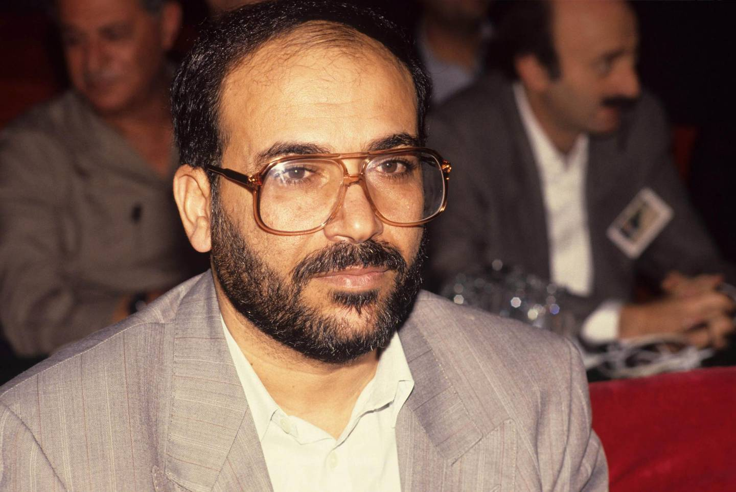 Fathi Shaqaqi (1951 - 1995), the Palestinian who founded and led the Palestinian Islamic Jihad organisation, attends a conference held in Tehran in support of the Palestinian people, February 1992. An advocate of suicide bombings as a means of protest, he was assassinated by Mossad in Malta. (Photo by Kaveh Kazemi/Getty Images)