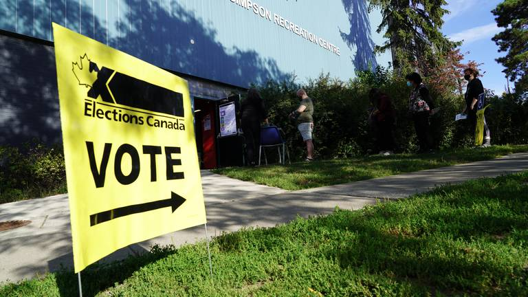 An image that illustrates this article 'Too close to call': Canadians head to polls in tight election