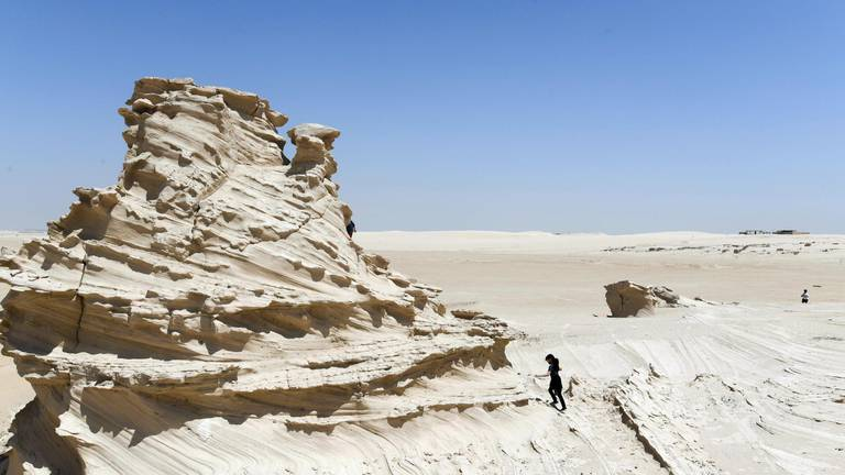 An image that illustrates this article Patrols to protect Abu Dhabi's fossil dunes were needed