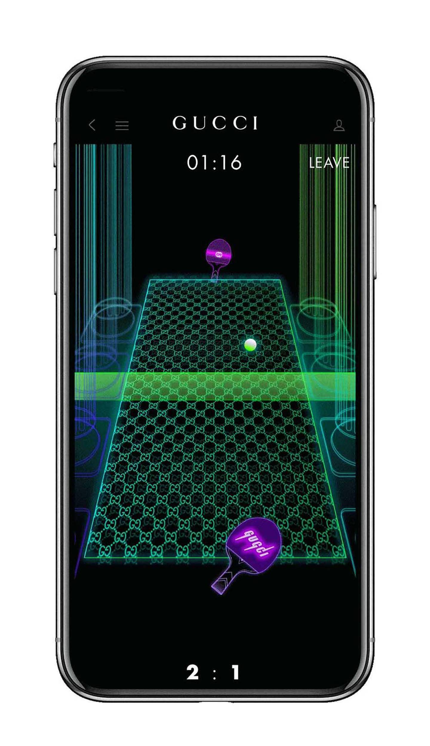 """Gucci Arcade, a new section on the brand's app featuring games that incorporate """"house characters"""". Courtesy Gucci"""