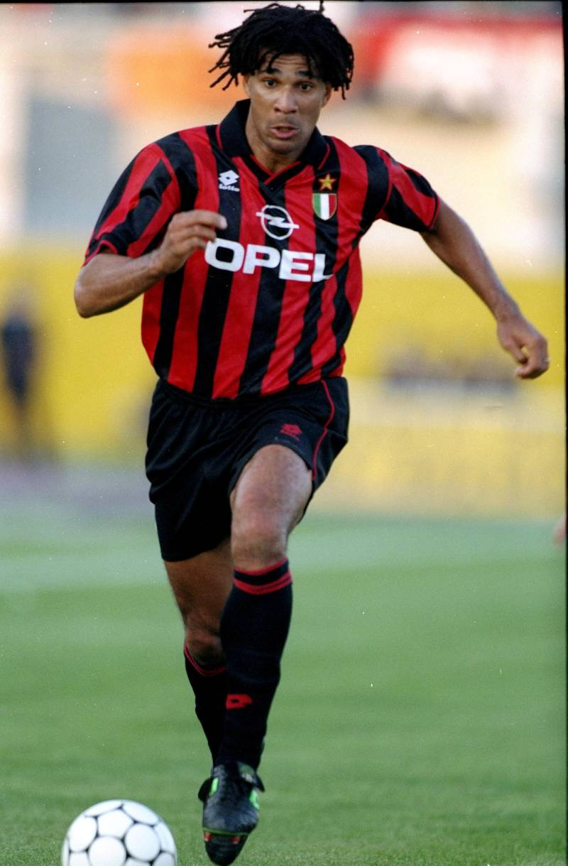 16 Oct 1994:  Ruud Gullit of AC Milan in action during a Serie A match against Padova Calico at the Silvio Appiani Stadium in Padua, Italy. Padova Calico won the match 2-0. \ Mandatory Credit: Clive  Mason/Allsport