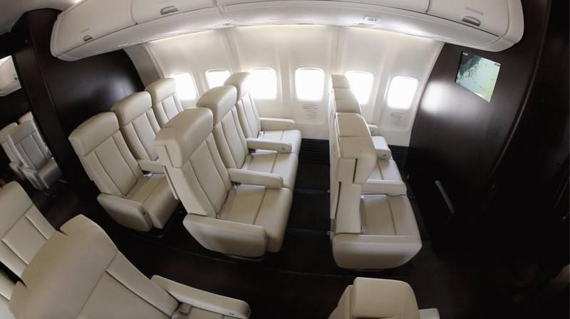 RoyalJet revealed its newly refurbished and upgraded Boeing Business Jet aircraft. Nilanjana Gupta/ The National
