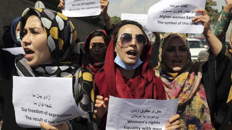 An image that illustrates this article The young Afghan woman who wants to reclaim Kabul