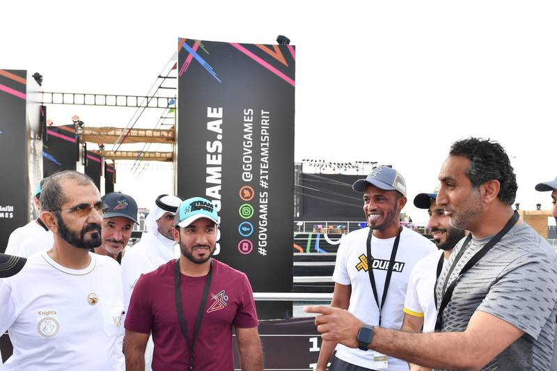 DUBAI, 4th April, 2019 (WAM) -- Sheikh Mohammed bin Rashid Al Maktoum, Vice President, Prime Minister and Ruler of Dubai, attended today the second edition of Gov Games 2019 in Dubai, which are being held under the patronage and participation of Sheikh Hamdan bin Mohammed bin Rashid Al Maktoum, Crown Prince of Dubai and Chairman of Dubai Executive Council. Wam