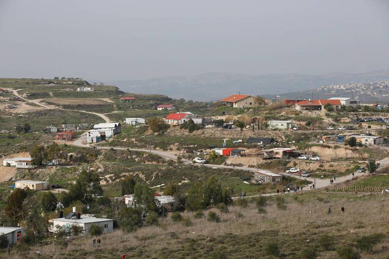 epa06496736 (FILE) - A general view of the illegal outpost  settlement of Havat Gilad in the West Bank, 10 January 2018 (reissued 04 January February 2018). The Israeli government unanimously approved a bill on 04 February  to authorized the Havat Gilad outpost in response to the killing of Rabbi Raziel Shevah who was shot by a Palestinian gunman in a drive by shooting on 09 January 2018.  EPA/ABIR SULTAN