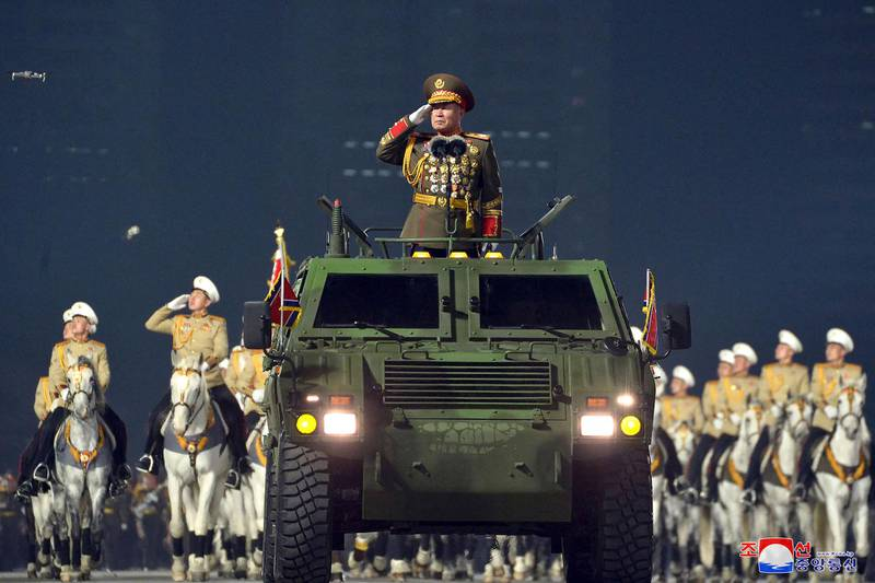 """This picture taken on January 14, 2021 and released from North Korea's official Korean Central News Agency (KCNA) on January 15 shows Pak Jong Chon, chief of the General Staff of the Korean People's Army, during a military parade celebrating the 8th Congress of the Workers' Party of Korea (WPK) in Pyongyang. (Photo by - / KCNA VIA KNS / AFP) / - South Korea OUT / REPUBLIC OF KOREA OUT   ---EDITORS NOTE--- RESTRICTED TO EDITORIAL USE - MANDATORY CREDIT """"AFP PHOTO/KCNA VIA KNS"""" - NO MARKETING NO ADVERTISING CAMPAIGNS - DISTRIBUTED AS A SERVICE TO CLIENTS THIS PICTURE WAS MADE AVAILABLE BY A THIRD PARTY. AFP CAN NOT INDEPENDENTLY VERIFY THE AUTHENTICITY, LOCATION, DATE AND CONTENT OF THIS IMAGE. /"""