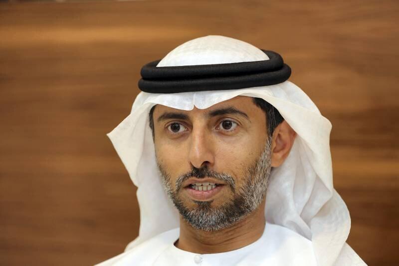 Abu Dhabi, United Arab Emirates - February 15th, 2018: Minister of Energy, Suhail Al Mazrouei. Thursday, February 15th, 2018. Ministry of Energy office, Al Falah Street, Abu Dhabi. Chris Whiteoak / The National