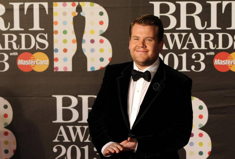 LONDON, ENGLAND - FEBRUARY 20: Host James Corden attends the Brit Awards 2013 at the 02 Arena on February 20, 2013 in London, England.  (Photo by Eamonn McCormack/Getty Images)