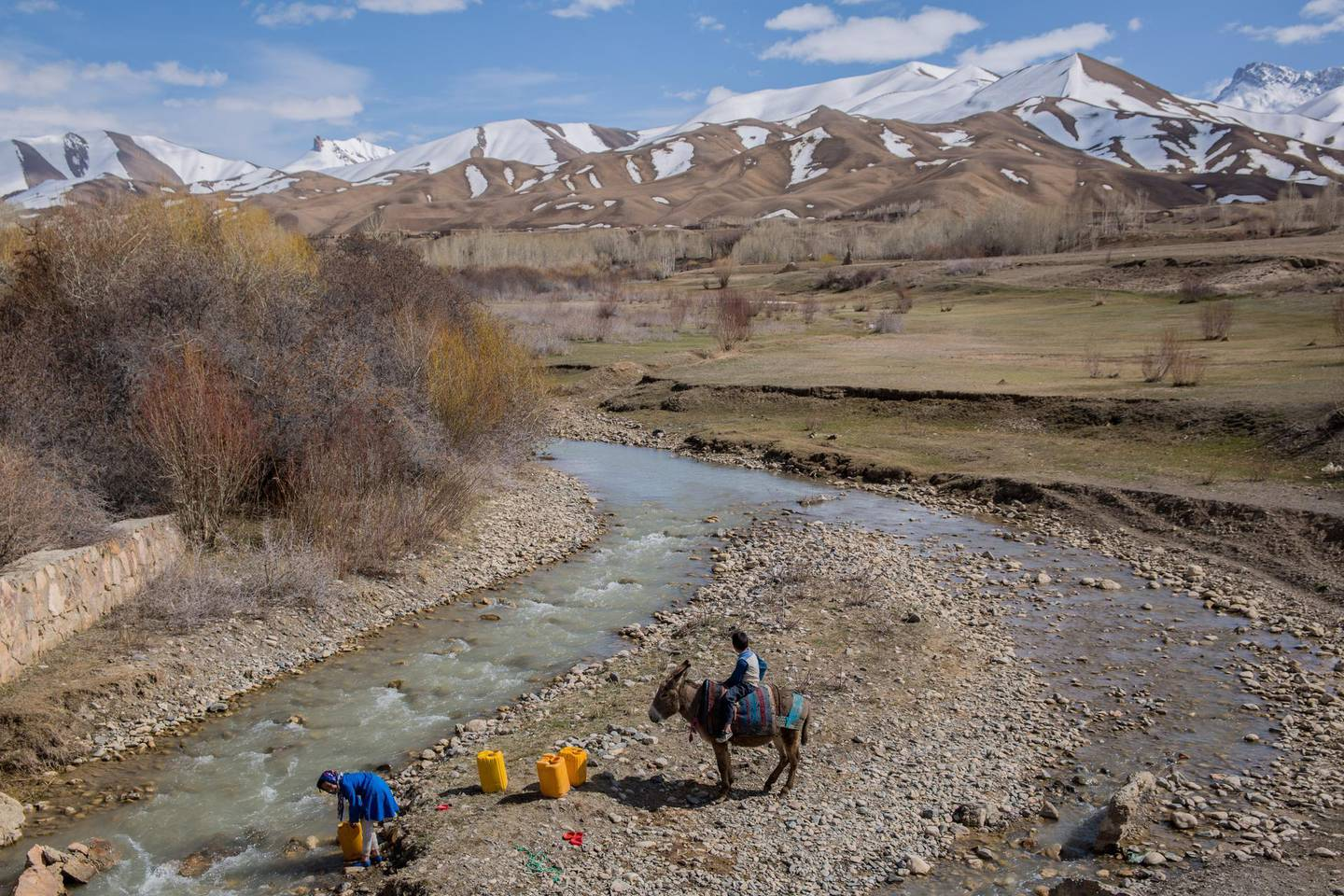 A rural scene from Bamyan; an area where tourists come for trekking and camping and often stay in local villages.