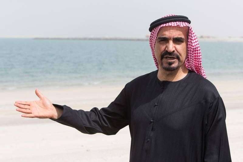Dubai, United Arab Emirates, February 19, 2017:     Ali Rashid Lootah chairperson of Nakheel speaks to journalists while touring their Deira Islands project in Dubai on February 19, 2017. Christopher Pike / The National  Job ID: 99447 Reporter: Michael Fahy Section: Business Keywords: *** Local Caption ***  CP0219-Bz-DeiraTour-26.JPG
