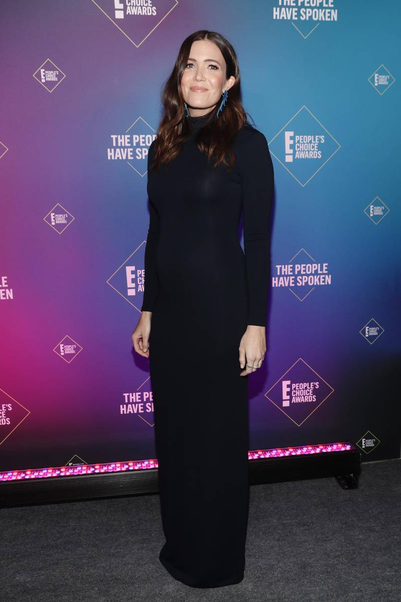 SANTA MONICA, CALIFORNIA - NOVEMBER 15: 2020 E! PEOPLE'S CHOICE AWARDS -- In this image released on November 15, Mandy Moore, The Drama TV Star of 2020, attends the 2020 E! People's Choice Awards held at the Barker Hangar in Santa Monica, California and on broadcast on Sunday, November 15, 2020. (Photo by Todd Williamson/E! Entertainment/NBCU Photo Bank via Getty Images)